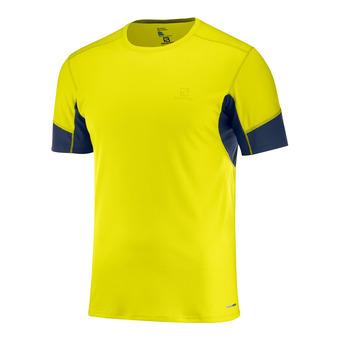 Salomon AGILE - Camiseta hombre sulphur sp