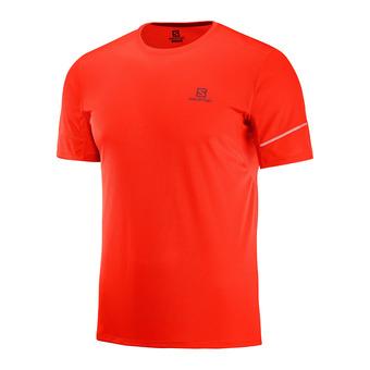 Salomon AGILE - Camiseta hombre fiery red