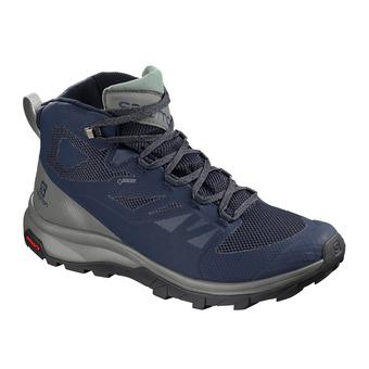Salomon OUTLINE GTX - Hiking Shoes - Men's - medieval b/castor