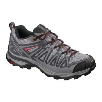 Salomon X ULTRA 3 PRIME - Chaussures randonnée Femme alloy/ebony/malaga