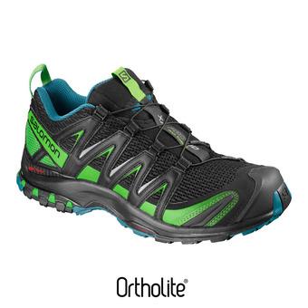 Zapatillas de trail hombre XA PRO 3D bk/deep lagoo/onlime lim