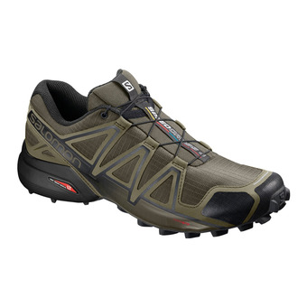 Salomon SPEEDCROSS 4 - Chaussures trail Homme leaf/burnt oliv