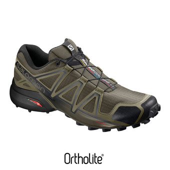 Salomon SPEEDCROSS 4 - Chaussures trail Homme leaf/burnt oliv