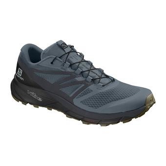 Salomon SENSE RIDE 2 - Chaussures trail Homme stormy weather/ebony/black