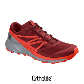 Salomon SENSE RIDE 2 - Chaussures trail Homme rd dahlia/cherry to/quarry