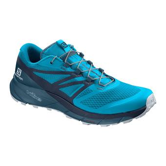Salomon SENSE RIDE 2 - Zapatillas trail hombre hawaiian ocean/navy blazer/mallard blue