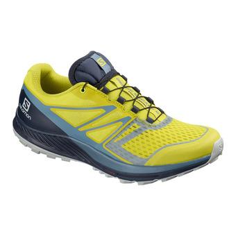 Salomon SENSE ESCAPE 2 - Chaussures trail Homme sulphur sp/navy bla