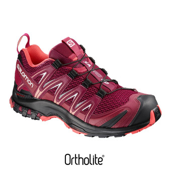 Zapatillas de trail mujer XA PRO 3D beet red/cerise./black
