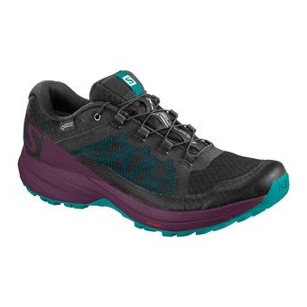 Salomon XA ELEVATE GTX - Chaussures trail Femme bk/potent pur/tro