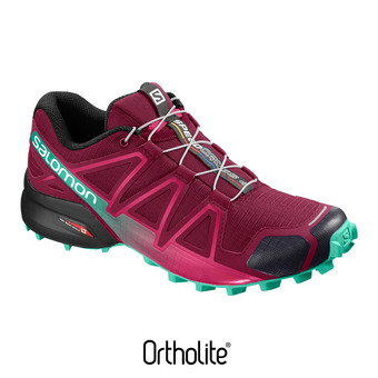 Salomon SPEEDCROSS 4 - Chaussures trail Femme beet red/electric