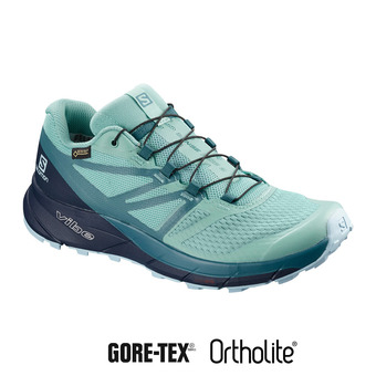 Salomon SENSE RIDE 2 INVIS FIT GTX - Chaussures trail Femme nile blue/navy blazer/mallard blue
