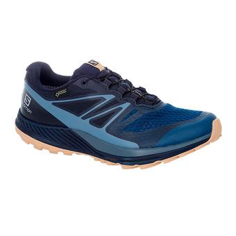 Salomon SENSE ESCAPE 2 GTX - Chaussures trail Femme navy blaze/bl