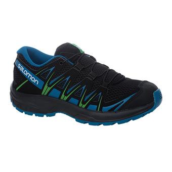 Salomon XA PRO 3D - Chaussures trail Junior bk/deep lagoo/onlime