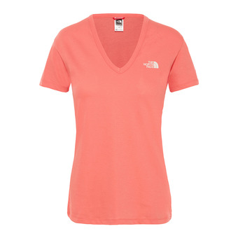 The North Face SIMPLE DOME - Tee-shirt Femme spiced coral