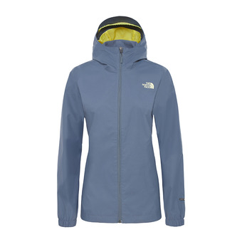 The North Face QUEST - Chaqueta mujer grisaille grey/exotic grn