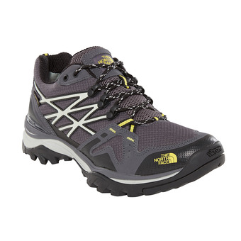 The North Face HEDGEHOG FASTPACK GTX - Hiking Shoes - Men's - blackened pearl/acid yllw
