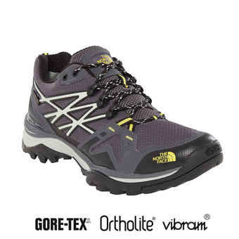 The North Face HEDGEHOG FASTPACK GTX - Zapatillas de senderismo hombre blackened pearl/acid yllw