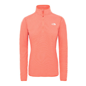 The North Face 100 GLACIER - Pile Donna juicy red stripe