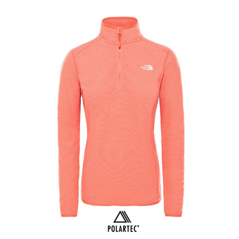 The North Face 100 GLACIER - Polaire Femme juicy red stripe