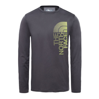 The North Face ONDRAS - Camiseta hombre asphalt grey/lime green