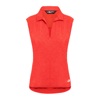 Polo sin mangas mujer INLUX juicy red dark heather