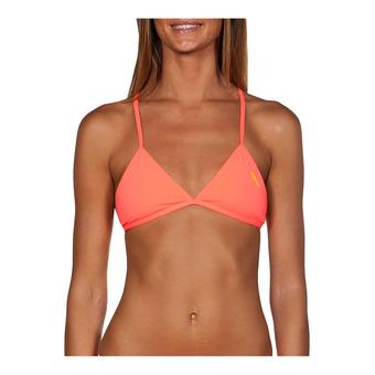 Arena TRIANGLE FEEL - Top de bikini mujer shiny pink/yellow star