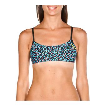 Arena BANDEAU PLAY - Top de bikini mujer turquoise/multi black