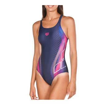 Arena BRIZA SWIM PRO - 1-Piece Swimsuit - Women's - navy/shiny pink