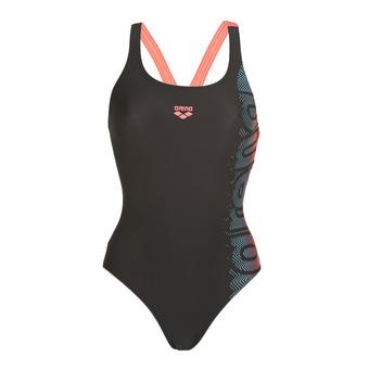 Arena SITAR SWIM PRO - 1-Piece Swimsuit - Women's - black/shiny pink