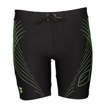 Bañador tipo jammer hombre JAVA MIDJAMMER black/shiny green