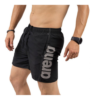 Arena FUNDAMENTALS ARENA LOGO - Swimming Shorts - Men's - black/white