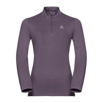 Sweat 1/2 zippé femme ALAGNA vintage violet