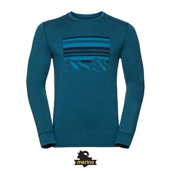 Camiseta térmica hombre ALLIANCE blue coral/placed print fw18