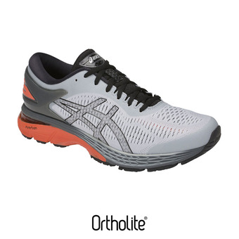 Asics GEL-KAYANO 25 - Zapatillas de running hombre mid grey/red snapper