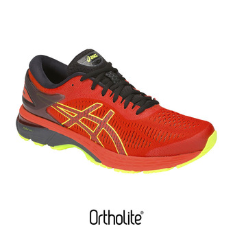 Asics GEL-KAYANO 25 - Chaussures running Homme cherry tomato/flash yellow