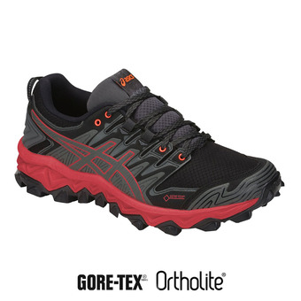 Asics GEL-FUJITRABUCO 7 GTX - Zapatillas de trail mujer dark grey/flash coral