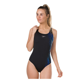 Speedo ILLUSIONWAVE PLACEMENT - Bañador mujer black