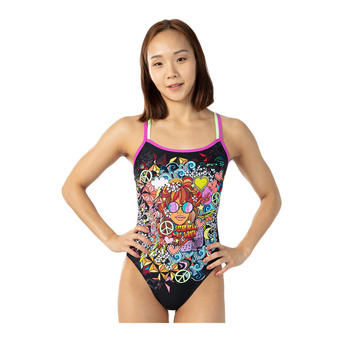 Speedo HIPPY CHICK DREAMS PLACEMENT - Bañador mujer black