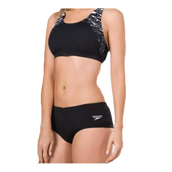 Speedo BOOM PLACEMENT - Bikini mujer black/white