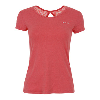 Columbia PEAK TO POINT - Camiseta mujer red coral