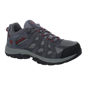 Columbia CANYON POINT WATERPROOF - Zapatillas de trail hombre charcoal/red element