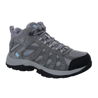 Columbia CANYON POINT WATERPROOF - Chaussures randonnée Femme light grey/oxygen