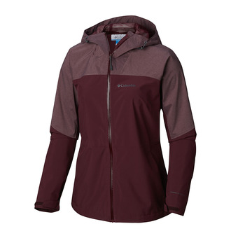 Columbia EVOLUTION VALLEY - Chaqueta mujer deep madeira/deep madeira heather