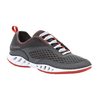 Columbia DRAINMAKER 3D - Scarpette acquatiche Donna ti grey steel/red coral