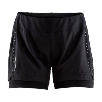 Craft ESSENTIAL - Short 2 en 1 Femme noir