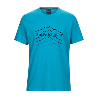 Peak Performance EXPLORE HILL - T-Shirt - Men's - mosaic blue
