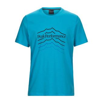 Peak Performance EXPLORE HILL - Tee-shirt Homme mosaic blue