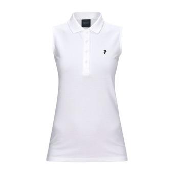 Polo sin mangas mujer CLAPIQ white