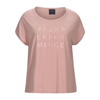 Peak Performance GRO CAP - Tee-shirt Femme dusty roses