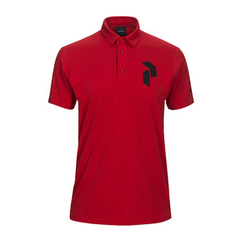 Peak Performance PANMOREPO - Polo hombre chinese red